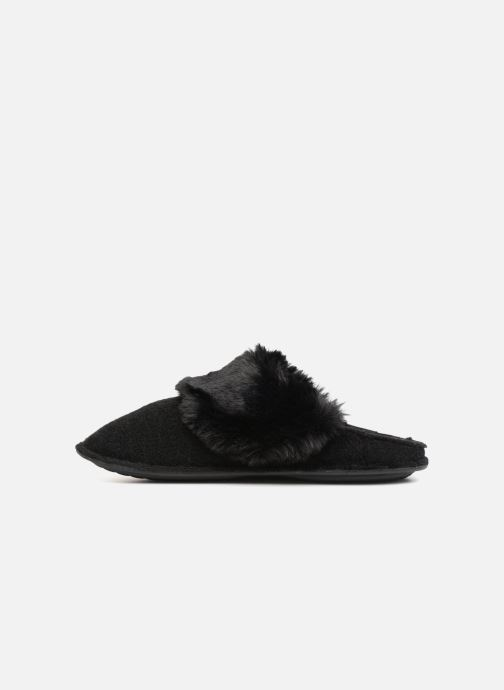 Chaussons Crocs Classic Luxe Slipper Noir vue face