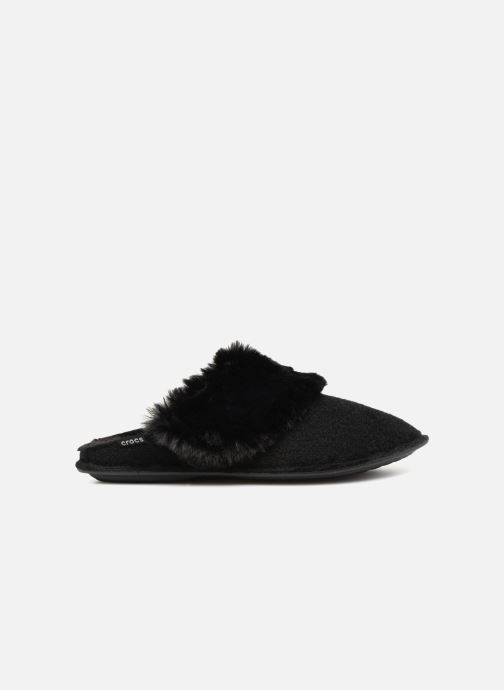 Chaussons Crocs Classic Luxe Slipper Noir vue derrière