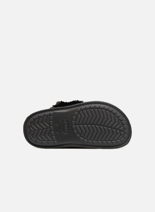 Slippers Crocs Classic Luxe Slipper Black view from above