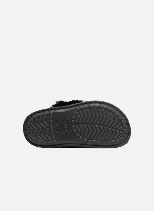 Chaussons Crocs Classic Luxe Slipper Noir vue haut