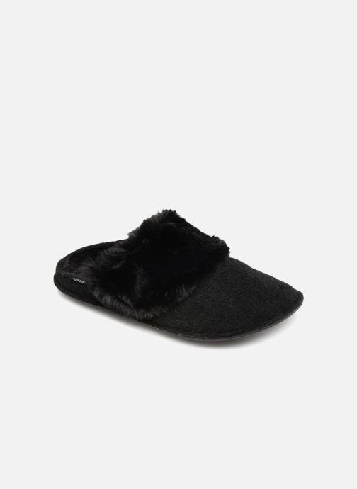 Chaussons Crocs Classic Luxe Slipper Noir vue détail/paire
