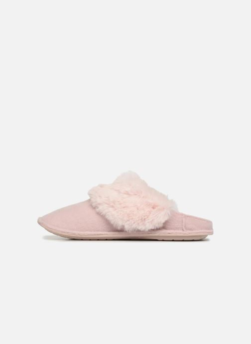 Chaussons Crocs Classic Luxe Slipper Rose vue face