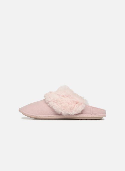 Hausschuhe Crocs Classic Luxe Slipper rosa ansicht von vorne
