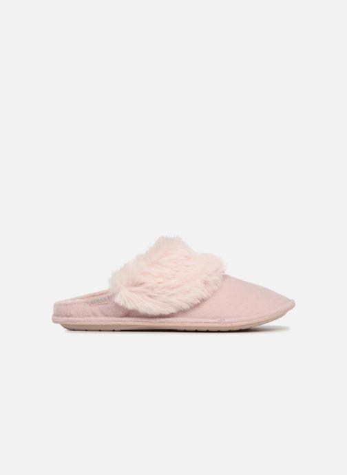 Pantuflas Crocs Classic Luxe Slipper Rosa vistra trasera