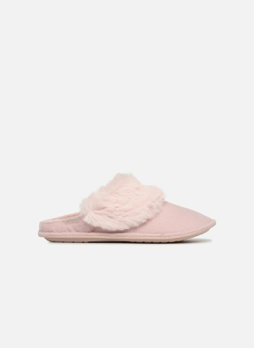 Hausschuhe Crocs Classic Luxe Slipper rosa ansicht von hinten