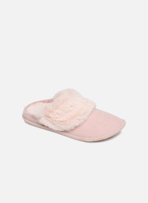 Pantuflas Crocs Classic Luxe Slipper Rosa vista de detalle / par