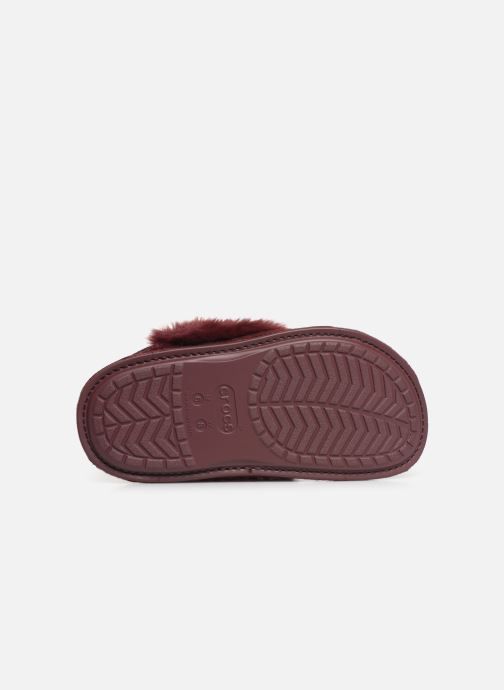 Pantuflas Crocs Classic Luxe Slipper Vino vista de arriba