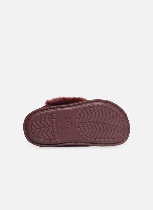 Chaussons Crocs Classic Luxe Slipper Bordeaux vue haut