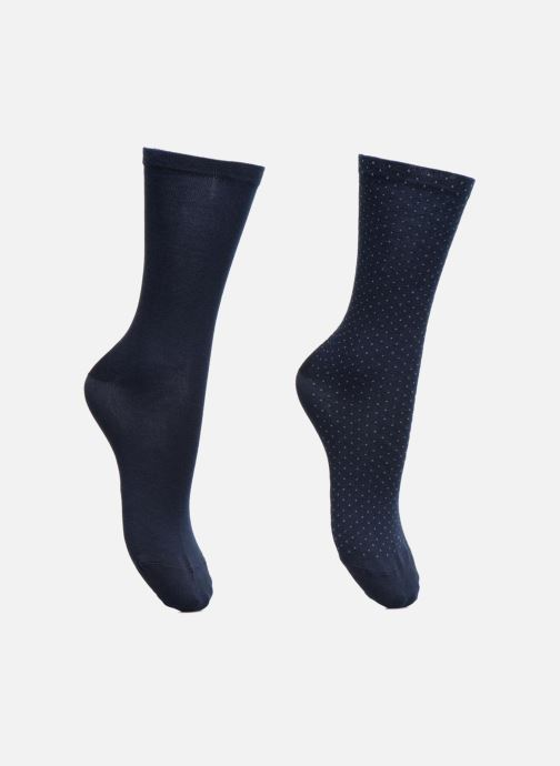 Sokken en panty's Esprit Chaussettes MICRO PIQUET SO Lot de 2 Blauw detail