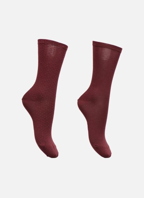 Sokken en panty's Esprit Chaussettes MICRO PIQUET SO Lot de 2 Bordeaux detail