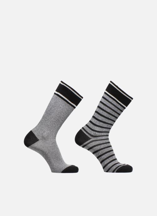 Socken & Strumpfhosen Esprit Chaussettes MELANGE STRIPE SO Lot de 2 grau detaillierte ansicht/modell