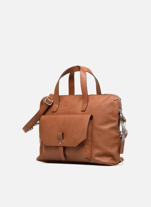 Handtaschen Esprit Iza Working Bag braun schuhe getragen