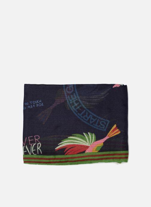 Sciarpa y foulard Esprit Lover Birds Scarf 95cm x 190cm Azzurro modello indossato
