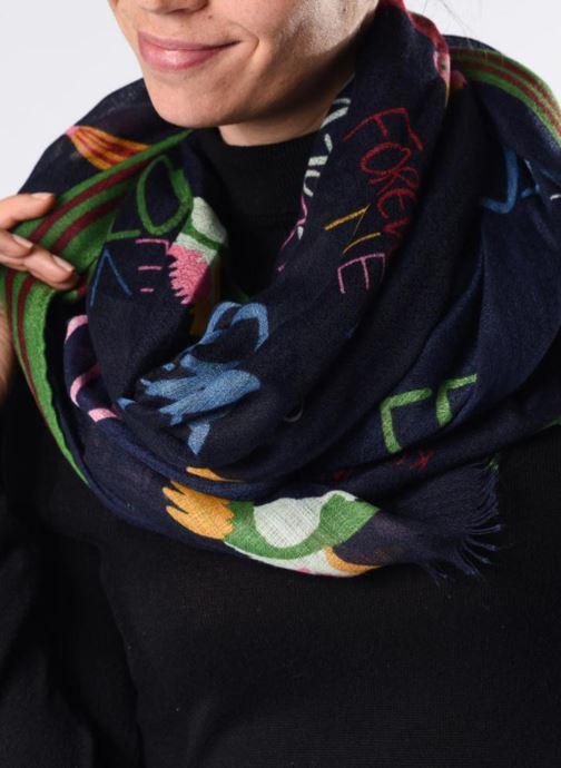 Sciarpa y foulard Esprit Lover Birds Scarf 95cm x 190cm Azzurro immagine dall'alto