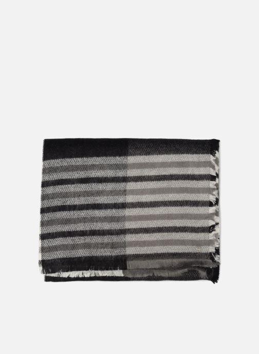 Sciarpa y foulard Esprit Cosy Checks Scarf 70cm x 200 cm Nero modello indossato