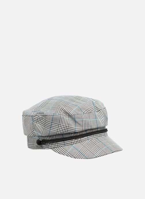 Pet Esprit Check News Boy Cap Zwart voorkant