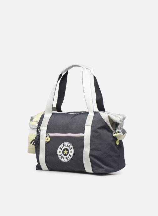 Reisegepäck Kipling Art grau schuhe getragen