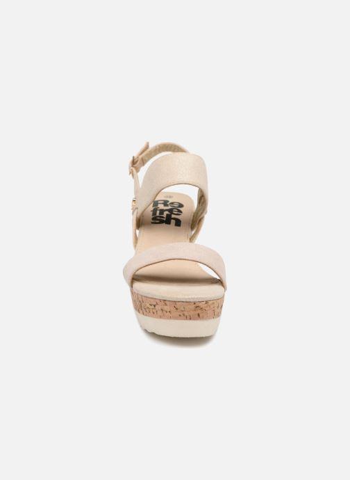 Sandales et nu-pieds Refresh 64093 Or et bronze vue portées chaussures