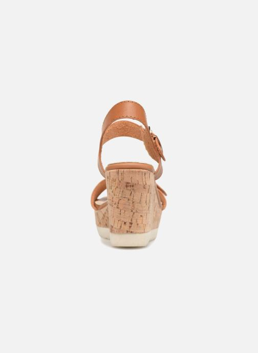 Sandalias Refresh 64094 Marrón vista lateral derecha