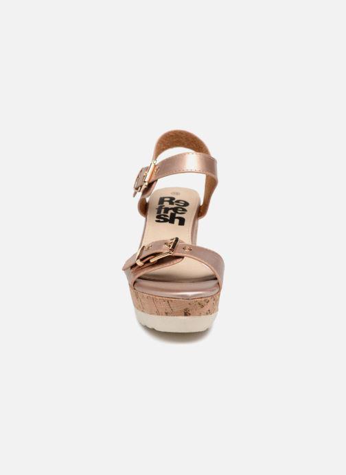 Sandales et nu-pieds Refresh 64094 Beige vue portées chaussures