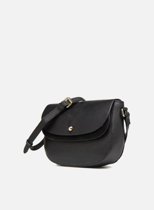Bolsos de mano Pieces Magda Leather Crossbody Negro vista del modelo