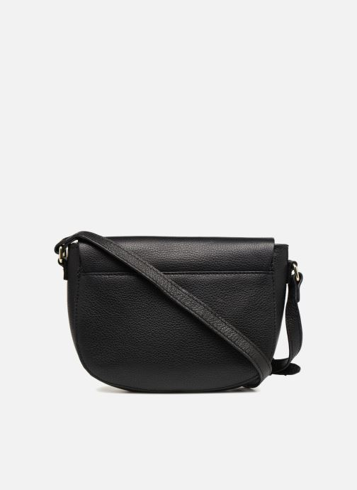 Handtassen Pieces Magda Leather Crossbody Zwart voorkant