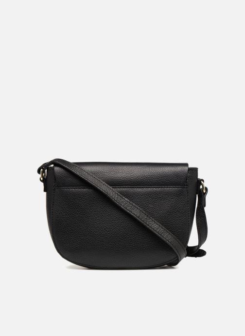 Handtassen Pieces Magda Leather Crossbody Zwart voorkant