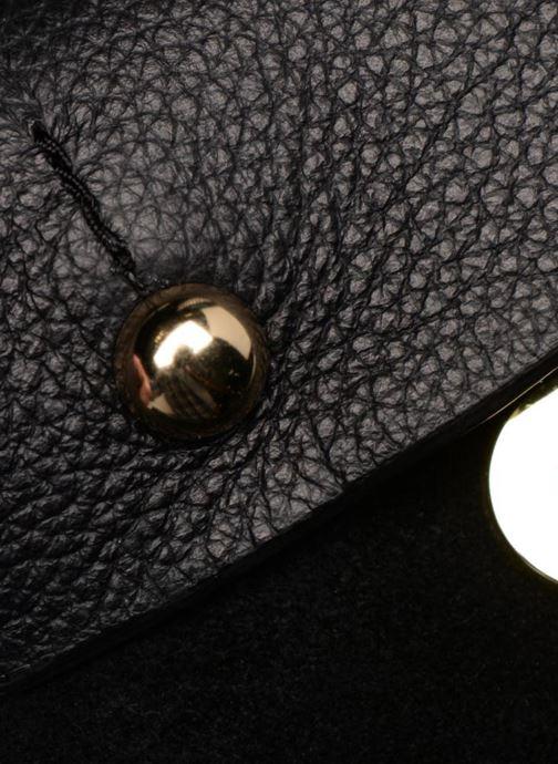Handtassen Pieces Magda Leather Crossbody Zwart links