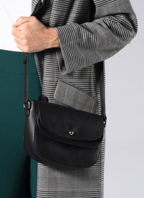 Handtassen Pieces Magda Leather Crossbody Zwart onder