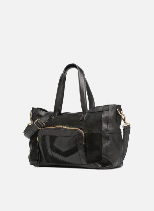 Sacs à main Pieces Krissa Leather Daily Bag Noir vue portées chaussures