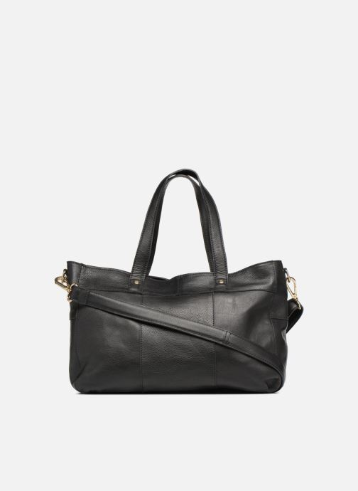 Handtaschen Pieces Krissa Leather Daily Bag schwarz ansicht von vorne