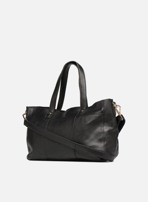 Handtaschen Pieces Krissa Leather Daily Bag schwarz ansicht von rechts