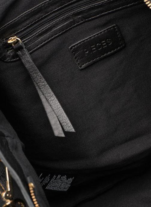 Handtaschen Pieces Krissa Leather Daily Bag schwarz ansicht von hinten
