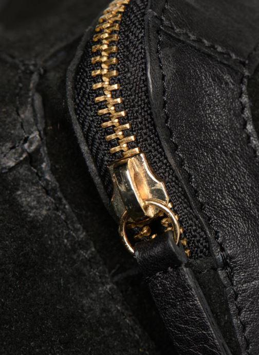 Handtaschen Pieces Krissa Leather Daily Bag schwarz ansicht von links
