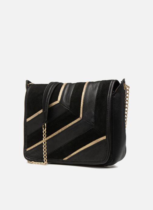Bolsos de mano Pieces Krystal Leather Crossbody Negro vista del modelo