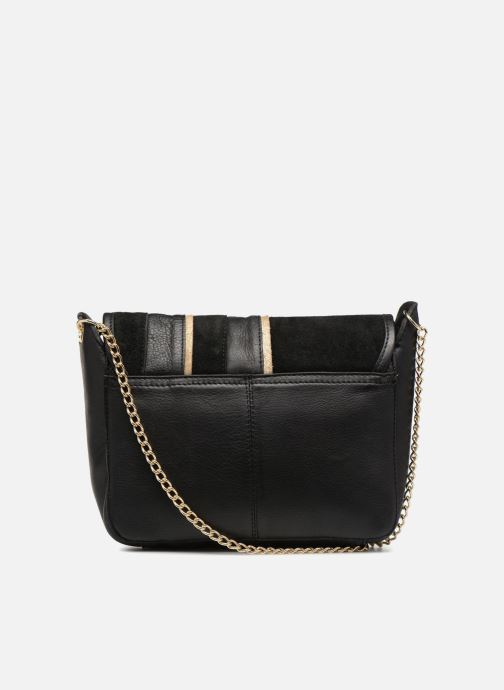 Sacs à main Pieces Krystal Leather Crossbody Noir vue face