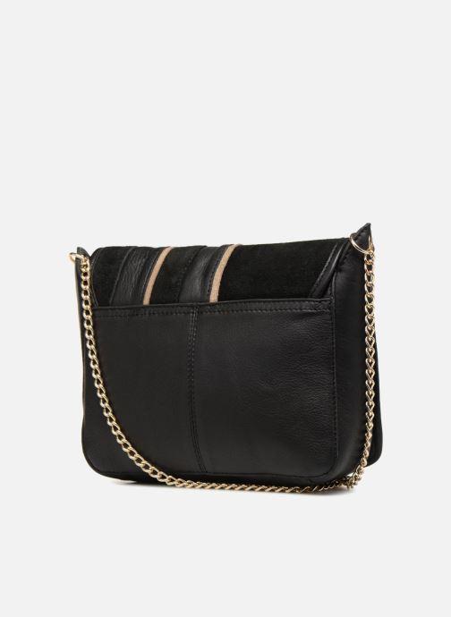 Handtaschen Pieces Krystal Leather Crossbody schwarz ansicht von rechts
