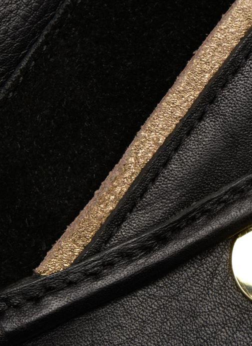 Handtaschen Pieces Krystal Leather Crossbody schwarz ansicht von links