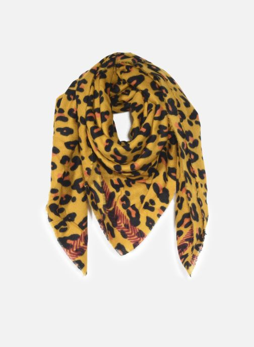 Sjaal Pieces Nikita Square Scarf Geel detail