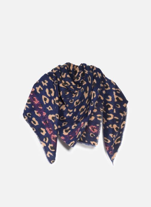 Sjaal Pieces Nikita Square Scarf Blauw detail