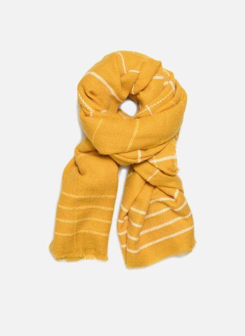 Echarpes et Foulards Pieces Julia Long Scarf Jaune vue détail/paire