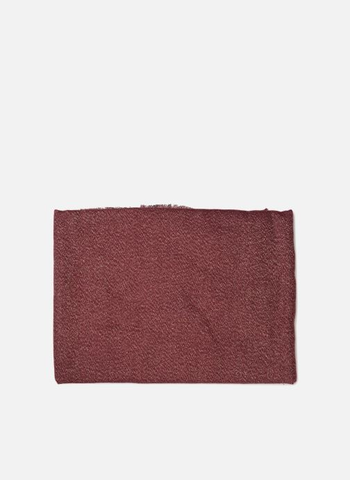 Sciarpa y foulard Pieces Galo Long Scarf Bordò modello indossato