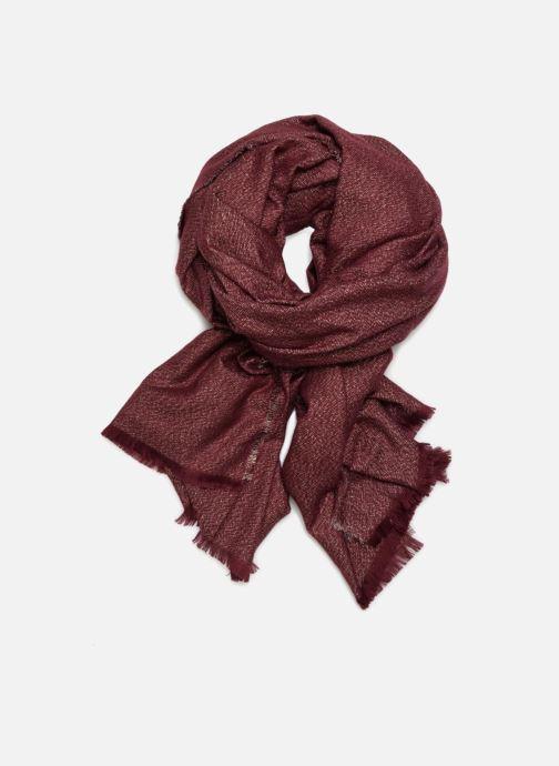 Sjaal Pieces Galo Long Scarf Bordeaux detail
