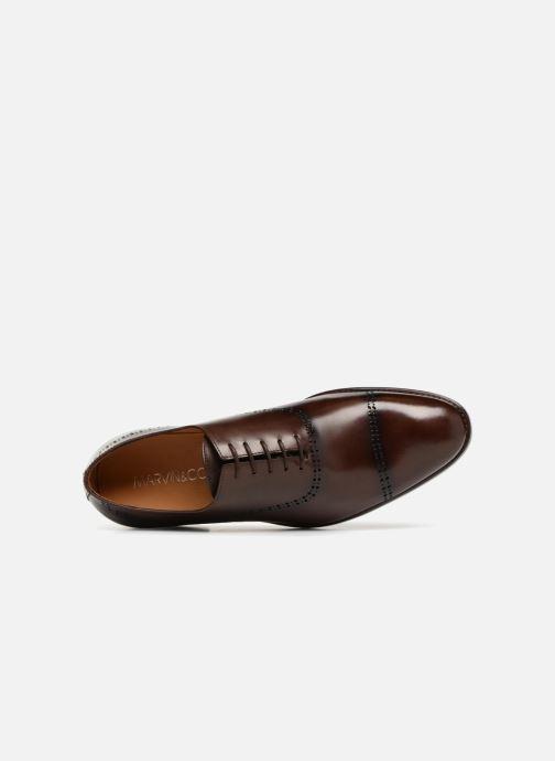 Zapatos con cordones Marvin&Co Luxe Clenson - Cousu Goodyear Marrón vista lateral izquierda