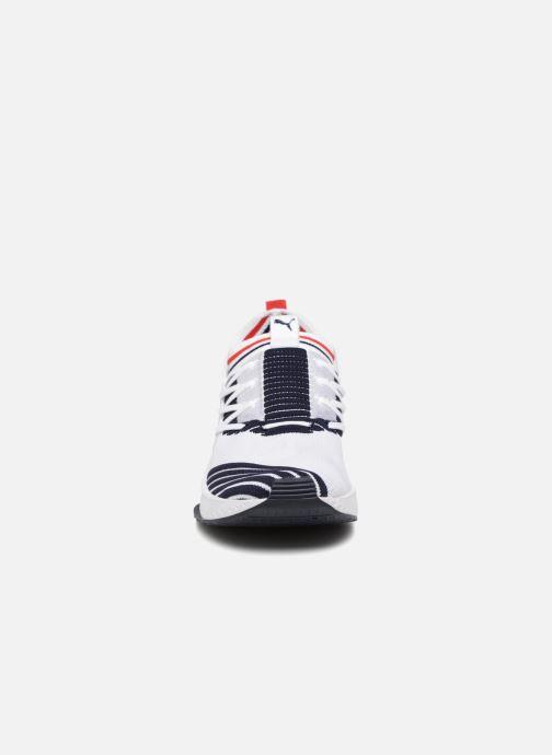 Sneaker Puma Tsugi Jun Sport Stripes weiß schuhe getragen