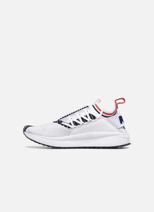 Sneakers Puma Tsugi Jun Sport Stripes Hvid se forfra