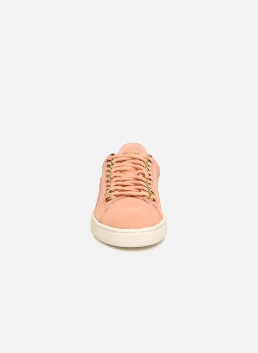Baskets Puma Suede Chain Wns Rose vue portées chaussures