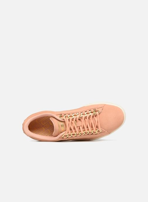 Trainers Puma Suede Chain Wns Pink view from the left