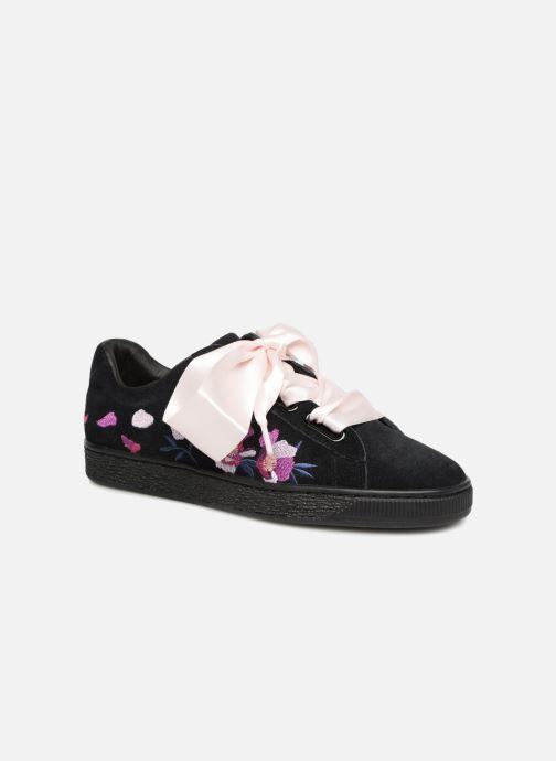 Sneaker Puma Suede Heart Flowery schwarz 3 von 4 ansichten