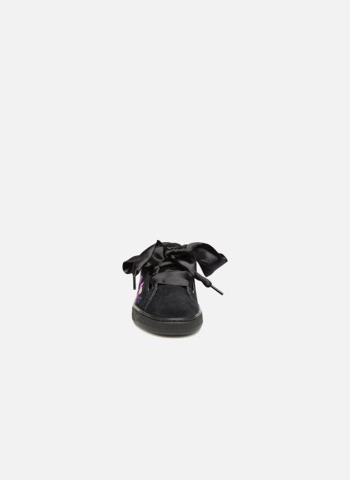 Sneaker Puma Suede Heart Flowery schwarz schuhe getragen